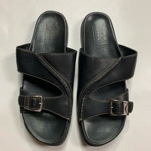 Timberland sandals women's size 7.5 black leather